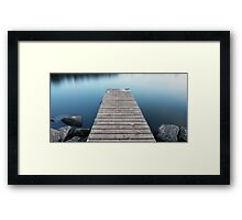 Tranquil Jetty Framed Print