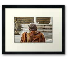 Buddhist Monk Framed Print