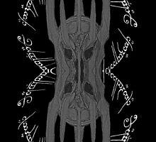 Saouron Mirror Black & White by XpressUSelf