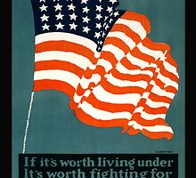 Patriotic Recruiting War Poster ~ ENLIST TODAY ~ Army Navy Air Force Marines Coast Guard ~ 0597  by ContrastStudios
