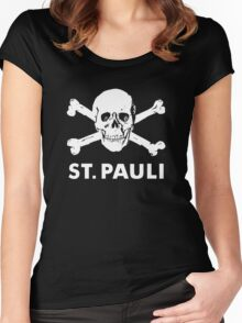 ST PAULI FOOTBALL CLUB Women's Fitted Scoop T-Shirt