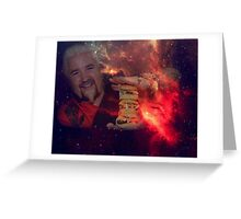 see you in space, guy Greeting Card