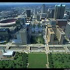 Downtown St. Louis from the Arch - (1993) by Dwaynep2010