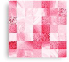 Baby Pink Marble Quilt III Canvas Print