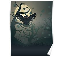 Owl in the Night Forest 2 Poster