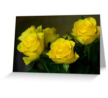 Yellow roses, symbol of friendship and joy Greeting Card