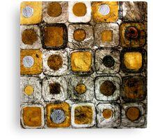 Golden Coins - Etching Canvas Print