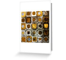 Golden Coins - Etching Greeting Card