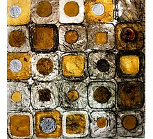 Golden Coins - Etching Photographic Print