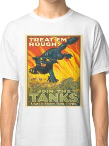Join the Tanks Corps ~ War Recruiting Poster ~ Black Cat Army Tank ~ 0592 Classic T-Shirt