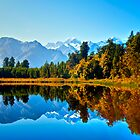 Mt. Cook from Lake Matheson by Kris Montgomery