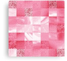 Baby Pink Marble Quilt II Canvas Print