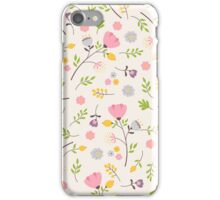 Tender flowers pattern iPhone Case/Skin