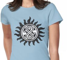 SUPERWHO SEAL OF RASSILON AND PROTECTION TATTOO Womens Fitted T-Shirt