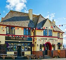 Colourful Cobb Arms ~ Lyme Regis by Susie Peek