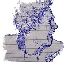 Pen sketch of Niall Horan by drawpassionn