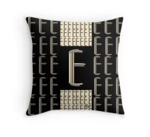 Metropolitan Park Deco 1920s monogram letter initial E Throw Pillow