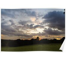 Pluckley Sunset Poster