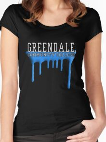 Community - Greendale Paintball Blue Women's Fitted Scoop T-Shirt