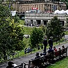 Edinburgh - Over Princes Street Gardens by AmandaJanePhoto