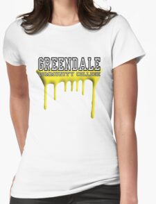 Community - Greendale Paintball Yellow Womens Fitted T-Shirt