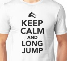 Keep calm and long jump Unisex T-Shirt