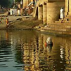 Bathing in the Ganges by SerenaB
