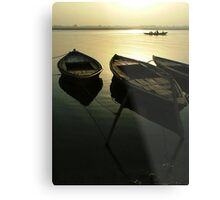 Boats of the Ganges Metal Print