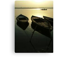 Boats of the Ganges Canvas Print