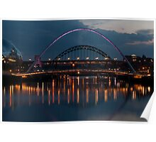 River Tyne at dusk Poster