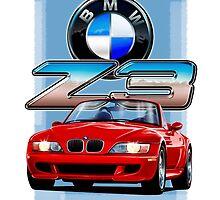 BMW Z3 Red by davidkyte