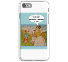 "Anti-""Helicopter Parenting"" to watch Y & R iPhone Case/Skin"