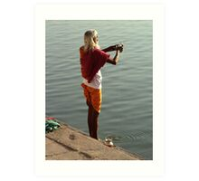 Making Puja in the Ganges Art Print