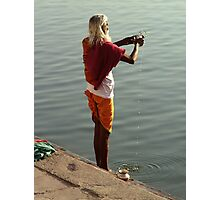 Making Puja in the Ganges Photographic Print