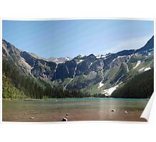 Avalanche Lake, Glacier National Park Poster