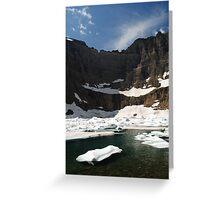 Iceberg Lake, Many Glacier Greeting Card