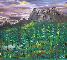 Mountains of Banff by James Bryron Love
