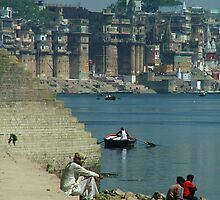 Peaceful Place Varanasi Ghats by SerenaB