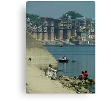Peaceful Place Varanasi Ghats Canvas Print