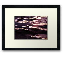 Water Reflection Abstract #1 Framed Print