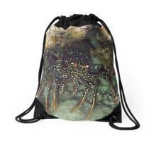 Caribbean Spotted Lobster at night Drawstring Bag