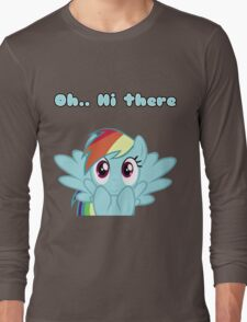 Rainbow Dash says Hi Long Sleeve T-Shirt