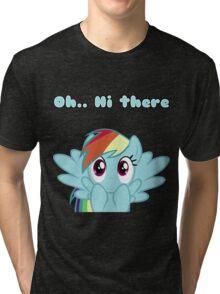 Rainbow Dash says Hi Tri-blend T-Shirt