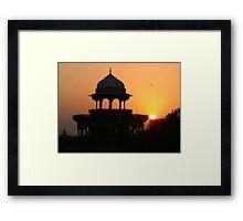 Sunrise at the Taj Mahal Framed Print