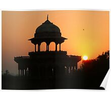 Sunrise at the Taj Mahal Poster