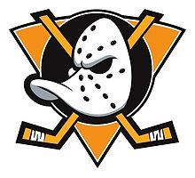 Anaheim Mighty Ducks orange triangle by Robert17
