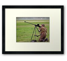 He's ready with his gun Framed Print
