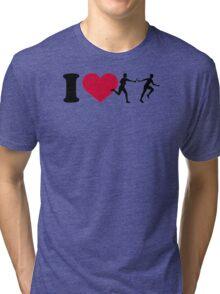 I love relay race Tri-blend T-Shirt