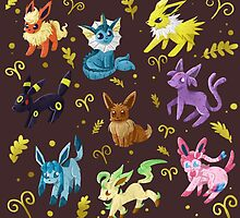 Eeveelutions by Aguichan