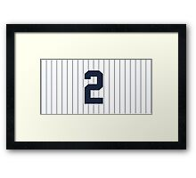 Number 2 Pinstripe Design Framed Print
